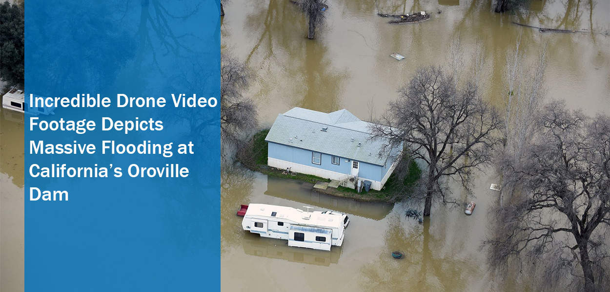 Incredible Drone Video Footage Depicts Massive Flooding at