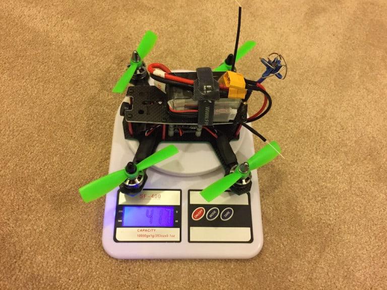 ZMR180 miniquad Weight