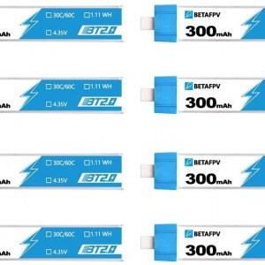 1S 300mah 30C Battery 8pcs